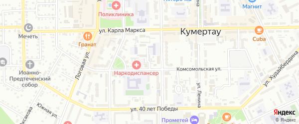 Советский 2-й переулок на карте Кумертау с номерами домов