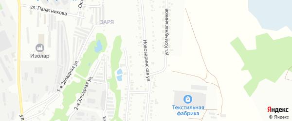 Новозаринская улица на карте Кумертау с номерами домов