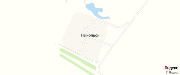 Улица Иванова на карте деревни Никольска с номерами домов