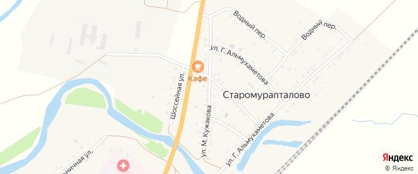 Улица Кужакова на карте деревни Старомурапталово с номерами домов