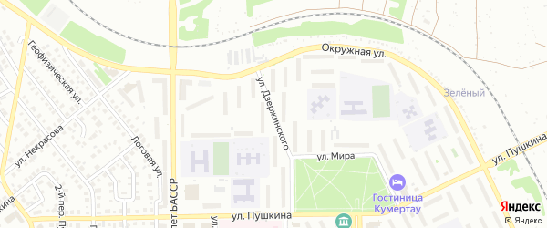 Улица Дзержинского на карте Кумертау с номерами домов