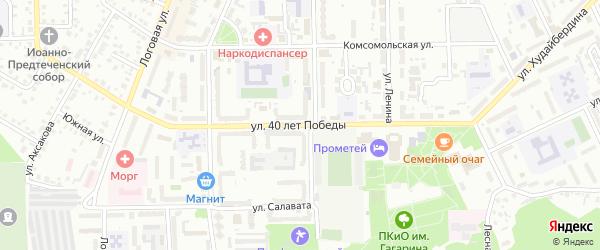 Улица 40 лет Победы на карте Кумертау с номерами домов