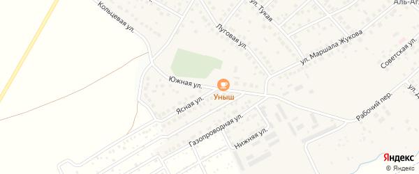 Южная улица на карте села Дмитриевки с номерами домов