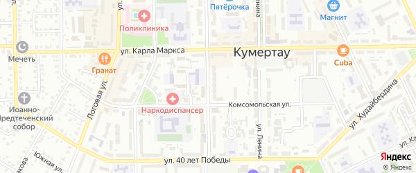 Советская улица на карте Кумертау с номерами домов