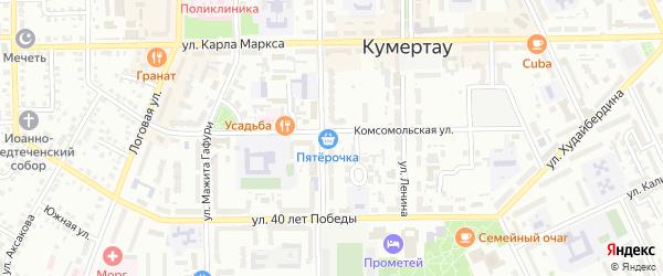 Массив 26 Станционная улица на карте Кумертау с номерами домов