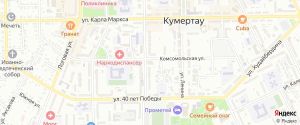 Массив 21 Станционная улица на карте Кумертау с номерами домов