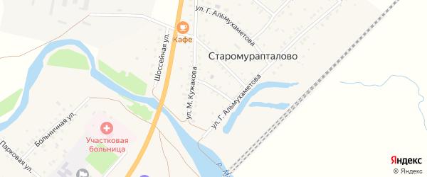 Школьная улица на карте деревни Старомурапталово с номерами домов