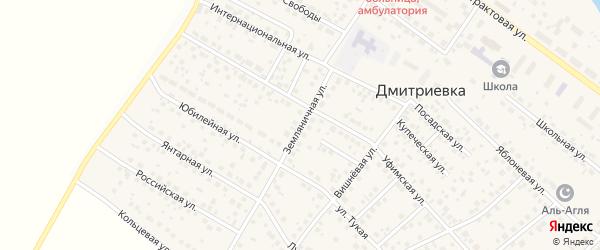 Земляничная улица на карте села Дмитриевки с номерами домов