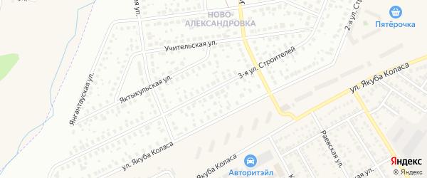 Улица Строителей на карте Уфы с номерами домов