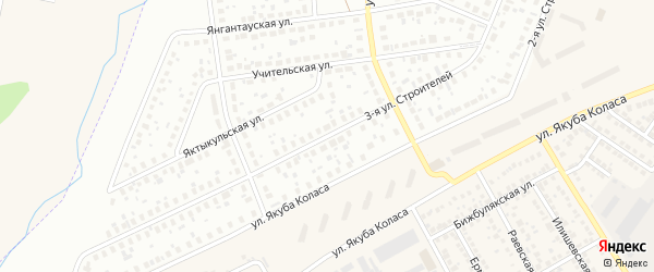 Строителей 3-я улица на карте Уфы с номерами домов