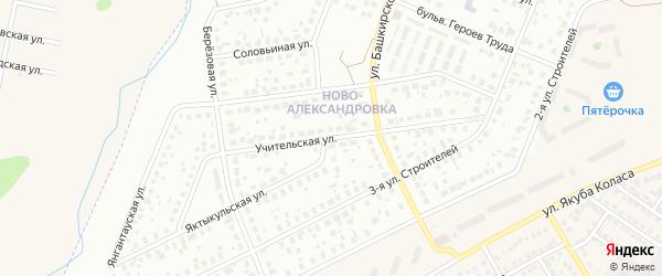 Учительская улица на карте Уфы с номерами домов