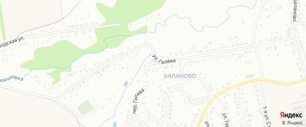 Переулок Гилева на карте Уфы с номерами домов
