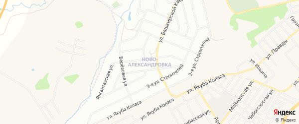 Карта деревни Баланово города Уфы в Башкортостане с улицами и номерами домов