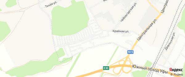 СНТ Дружба на карте Уфы с номерами домов