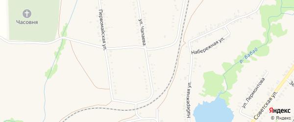 Улица Чапаева на карте села Ермолаево с номерами домов