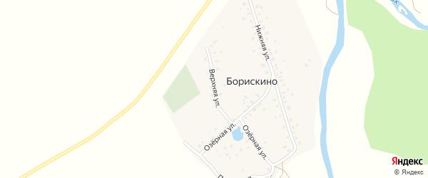 Верхняя улица на карте деревни Борискино с номерами домов