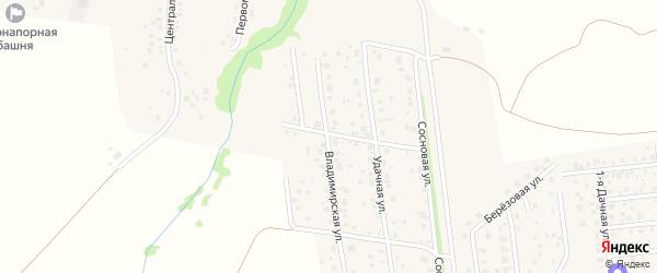Владимирская улица на карте села Таптыково с номерами домов