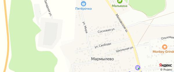 Улица Мира на карте деревни Мармылево с номерами домов