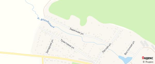 Заречная улица на карте села Дмитриевки с номерами домов
