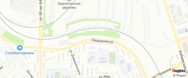 Окружная улица на карте Кумертау с номерами домов