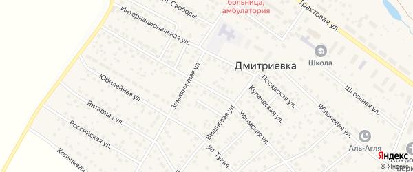 Уфимская улица на карте села Дмитриевки с номерами домов