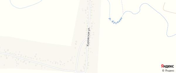 Куровская улица на карте деревни Рязановки с номерами домов