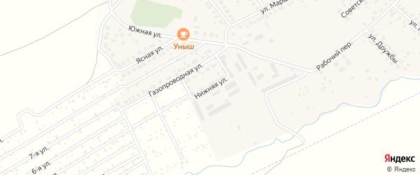 Нижняя улица на карте села Дмитриевки с номерами домов