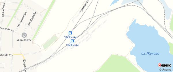 СНТ Строитель на карте Уфимского района с номерами домов