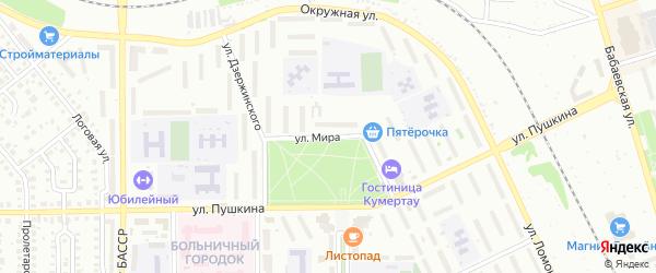 Улица Мира на карте Кумертау с номерами домов