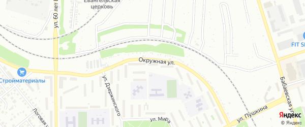 Массив 6 Окружная улица на карте Кумертау с номерами домов