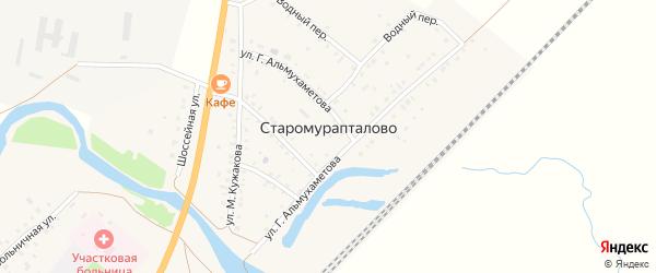 Улица Тукаева на карте деревни Старомурапталово с номерами домов