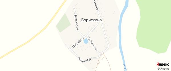 Озерная улица на карте деревни Борискино с номерами домов