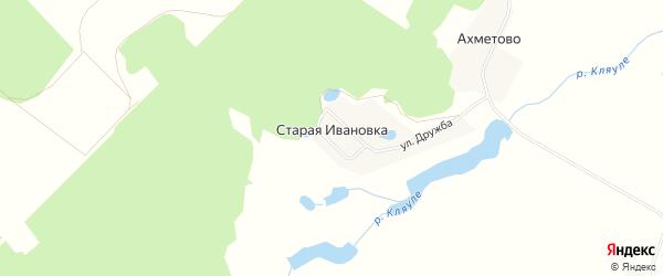 Карта деревни Старой Ивановки в Башкортостане с улицами и номерами домов