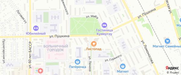 Площадь Мира на карте Кумертау с номерами домов