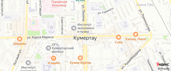 Улица Ленина на карте Кумертау с номерами домов