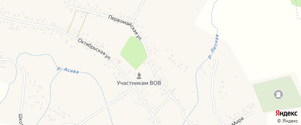 Первомайская улица на карте села Талачево с номерами домов