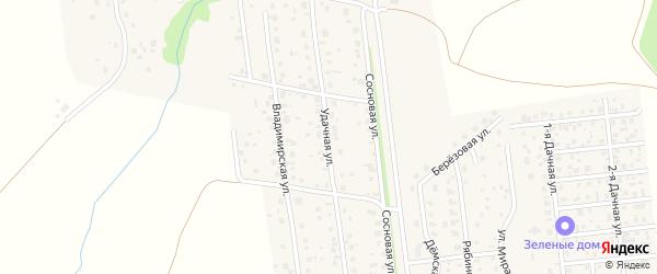 Удачная улица на карте села Таптыково с номерами домов