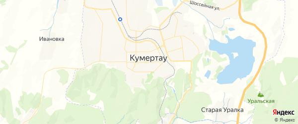 Карта Кумертау с районами, улицами и номерами домов: Кумертау на карте России
