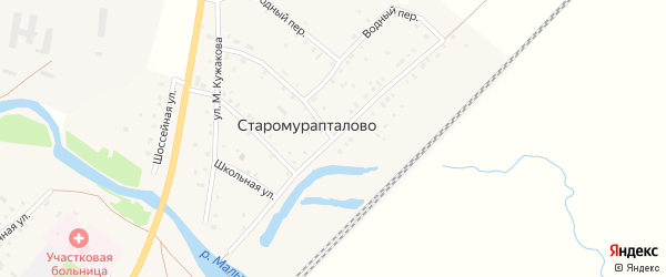 Улица Альмухаметова на карте деревни Старомурапталово с номерами домов