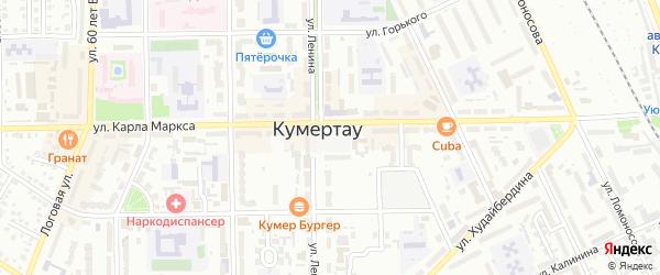 Площадь Советов на карте Кумертау с номерами домов