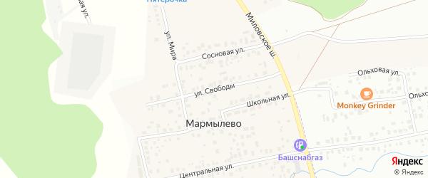 Улица Свободы на карте деревни Мармылево с номерами домов
