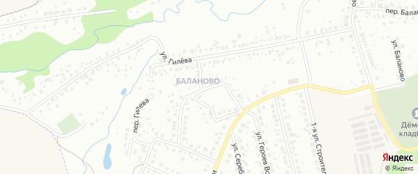 Переулок Башкирской кавдивизии на карте Уфы с номерами домов