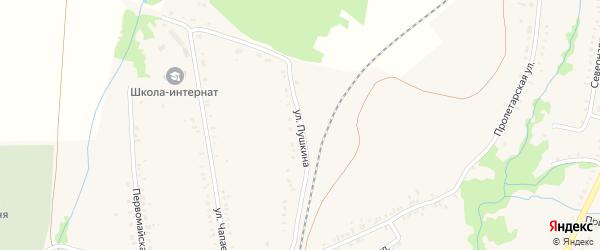 Улица Пушкина на карте села Ермолаево с номерами домов