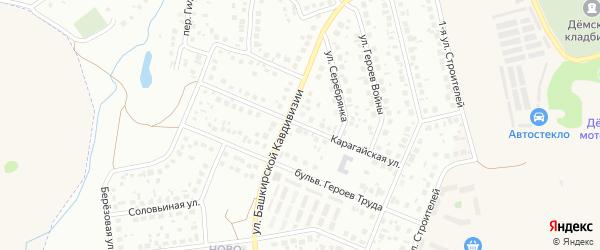 Карагайская улица на карте Уфы с номерами домов
