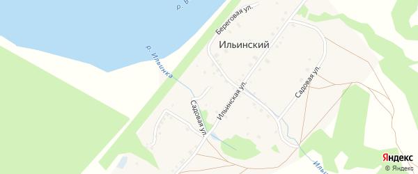 Садовая улица на карте деревни Ильинского с номерами домов