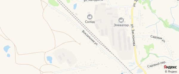 Железнодорожная улица на карте деревни Карагая с номерами домов