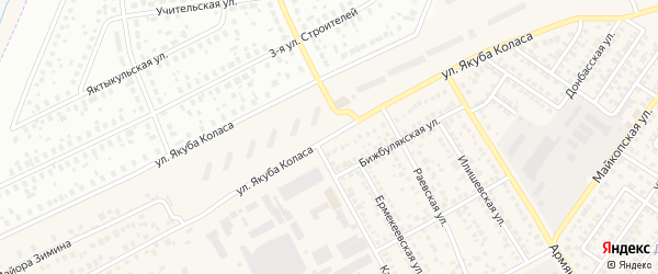 Улица Якуба Коласа на карте Уфы с номерами домов