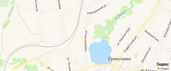 Набережная улица на карте села Ермолаево с номерами домов