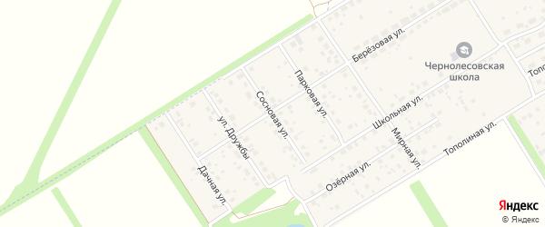 Сосновая улица на карте села Чернолесовского с номерами домов