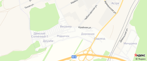 СНТ Вишенка на карте Уфы с номерами домов